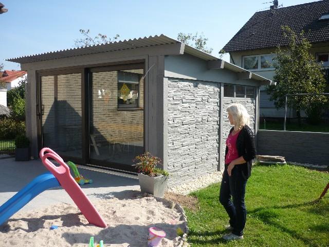 66919 Weselberg – Zaun mit BETON-Haus